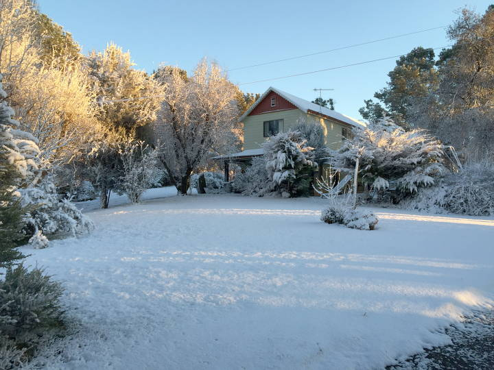 Adaminaby after a winter snowfall